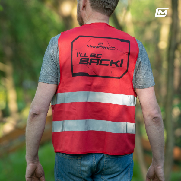 High quality reflective vest with the Mancraft Logo.